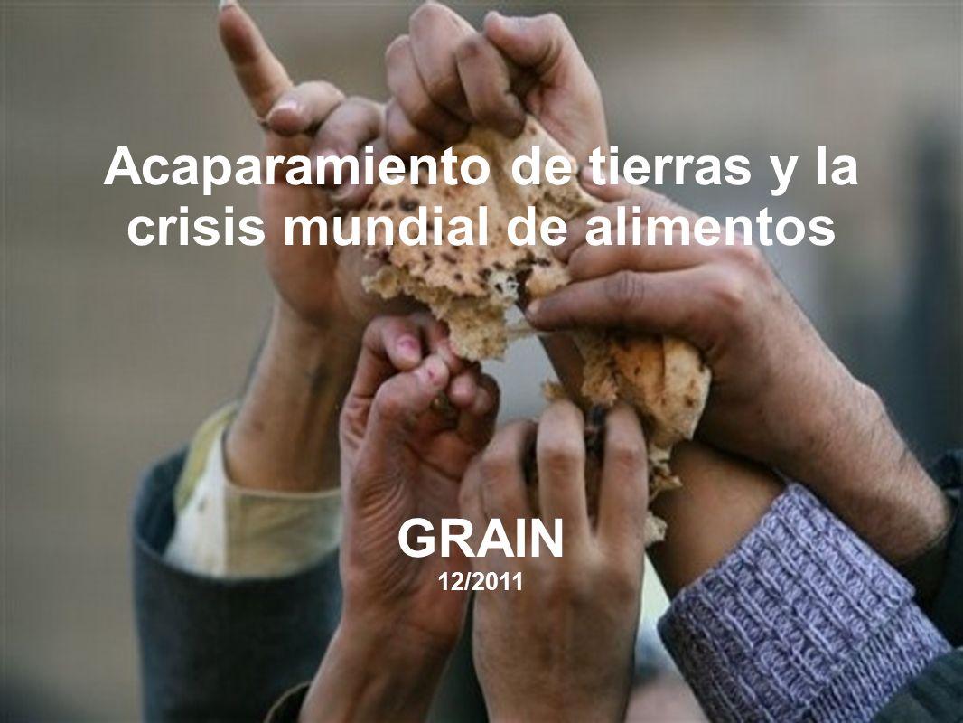 Acaparamiento de tierras y la crisis mundial de alimentos