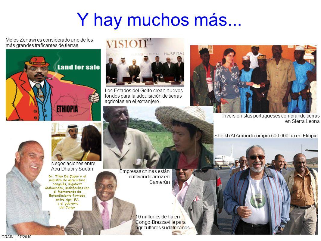 Y hay muchos más...Meles Zenawi es considerado uno de los más grandes traficantes de tierras.