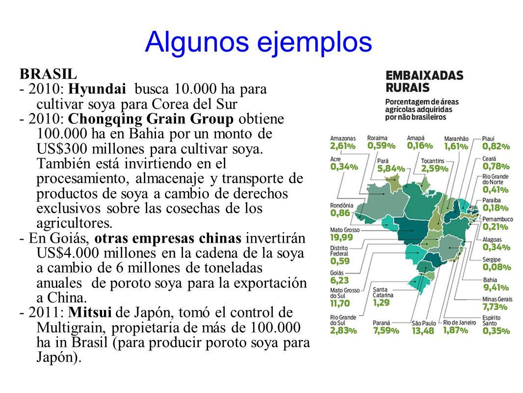 Algunos ejemplos BRASIL