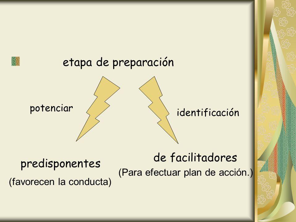 etapa de preparación de facilitadores potenciar identificación