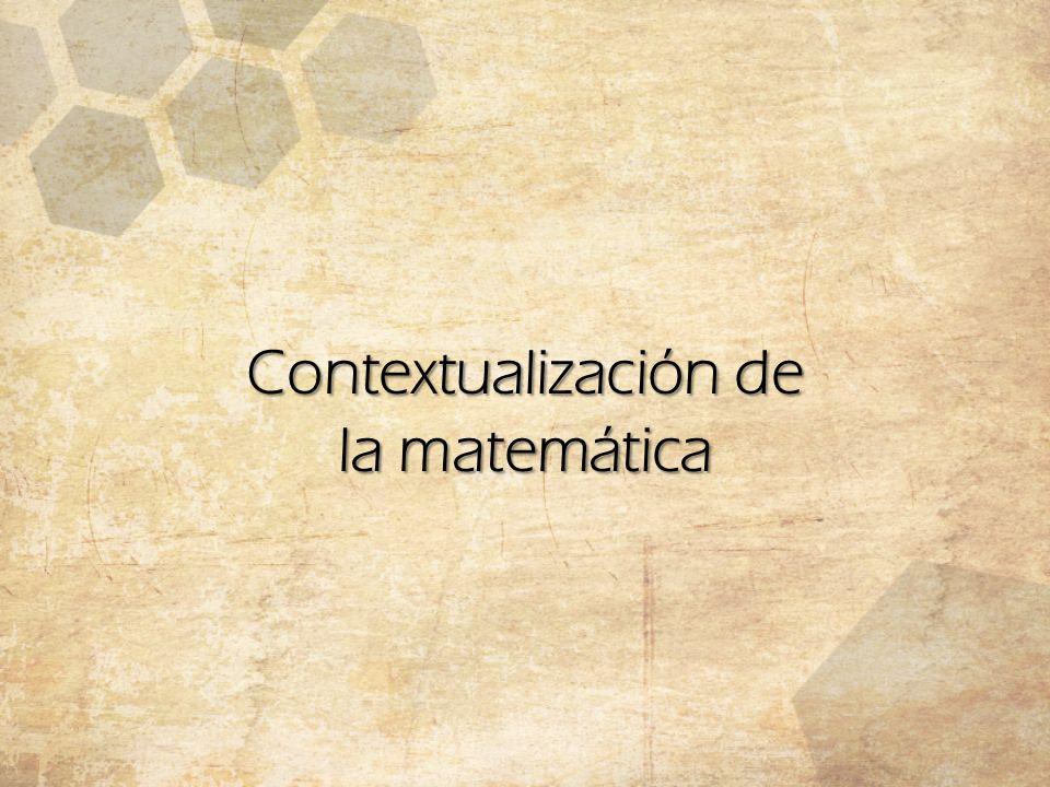 Contextualización de la matemática