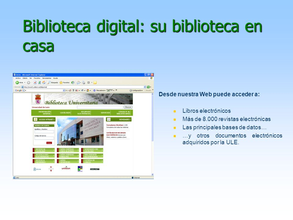 Biblioteca digital: su biblioteca en casa