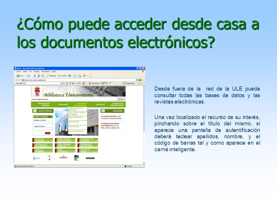 ¿Cómo puede acceder desde casa a los documentos electrónicos