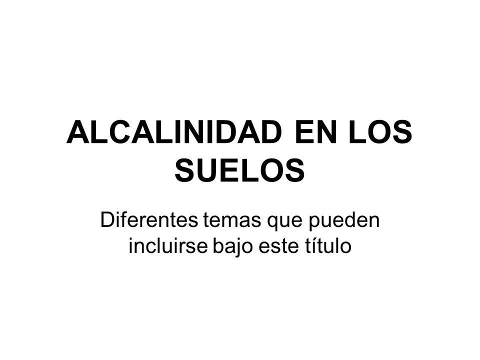 ALCALINIDAD EN LOS SUELOS