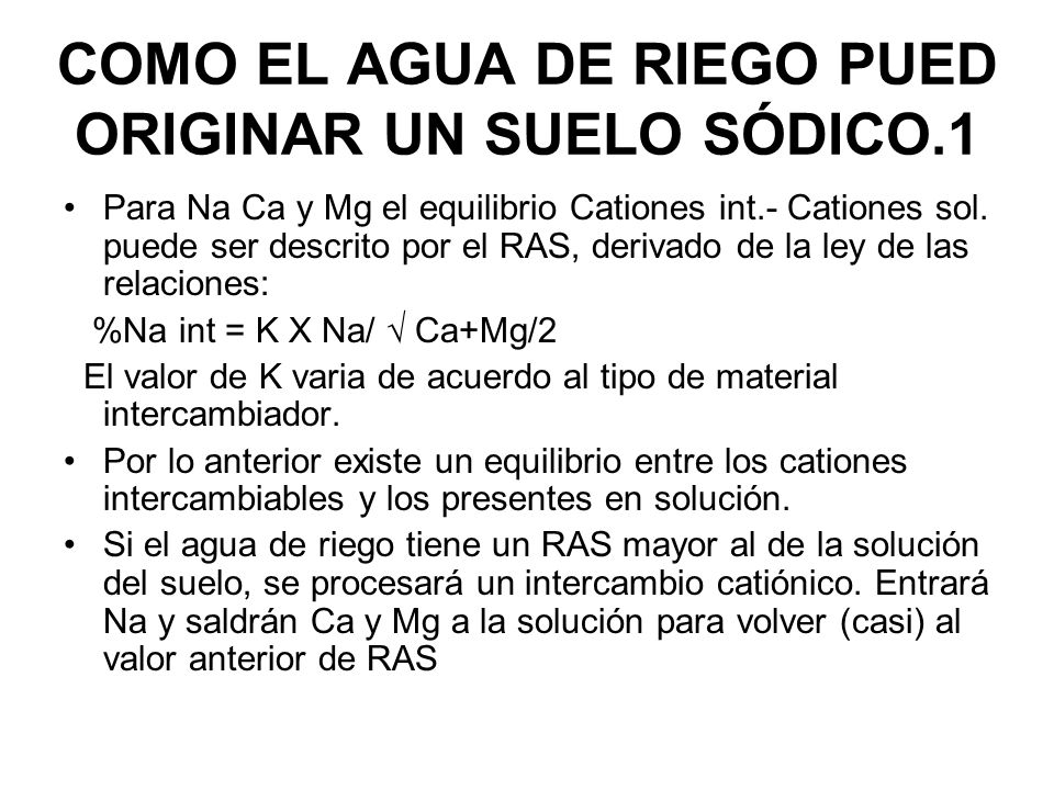 COMO EL AGUA DE RIEGO PUED ORIGINAR UN SUELO SÓDICO.1