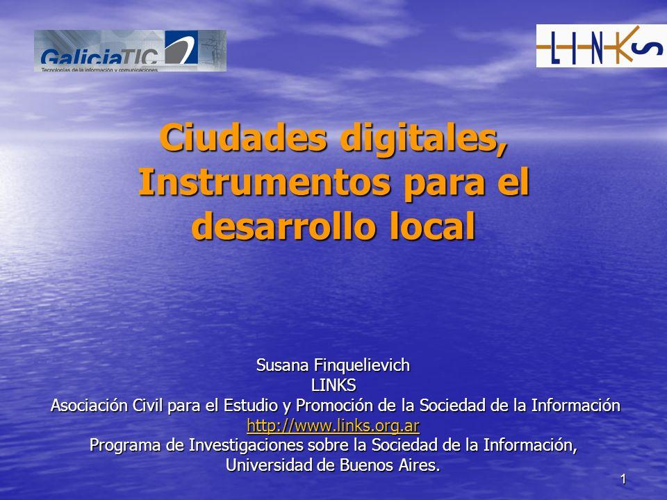 Ciudades digitales, Instrumentos para el desarrollo local