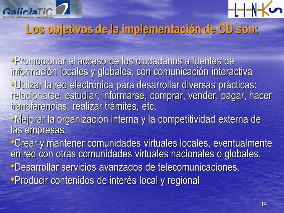 Los objetivos de la implementación de CD son: