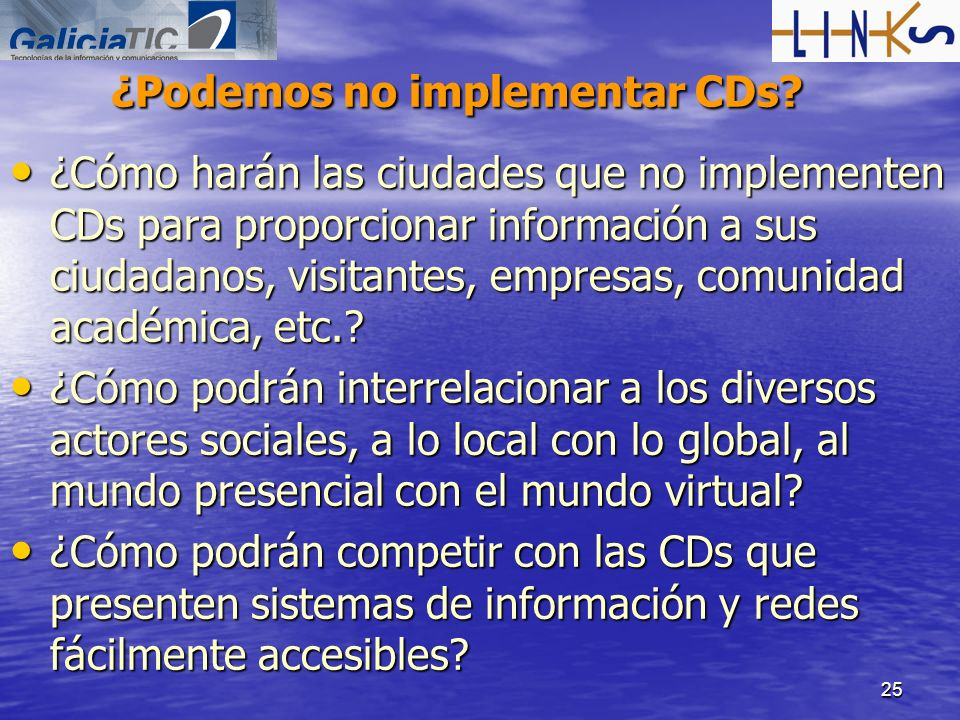 ¿Podemos no implementar CDs