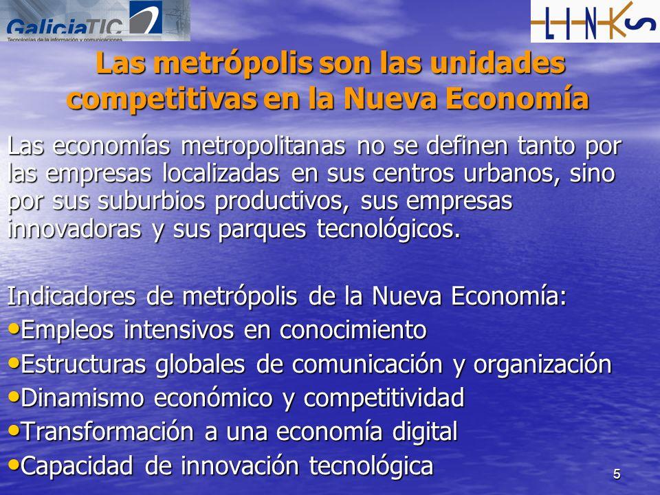 Las metrópolis son las unidades competitivas en la Nueva Economía