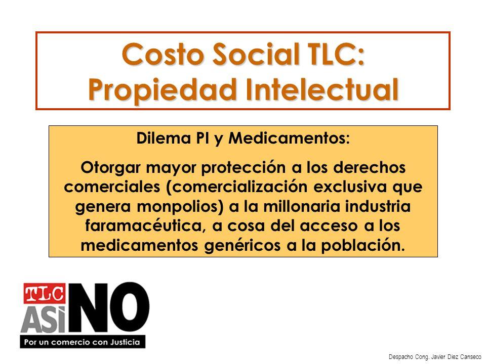 Costo Social TLC: Propiedad Intelectual