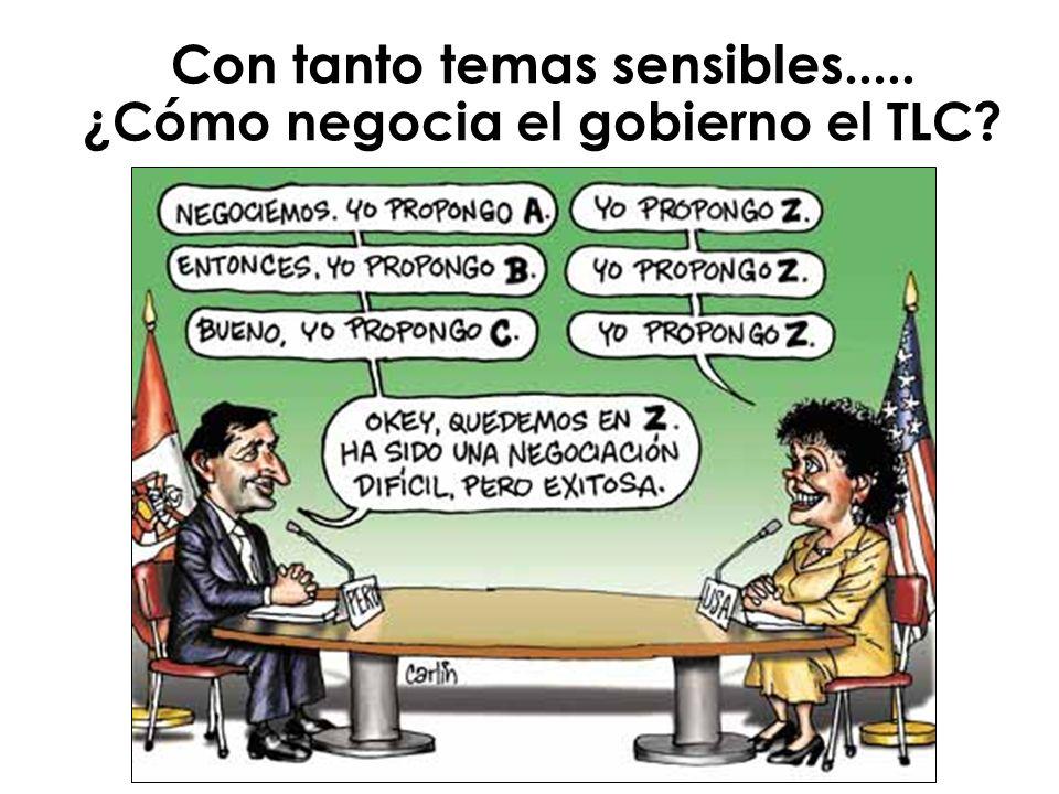 Con tanto temas sensibles..... ¿Cómo negocia el gobierno el TLC