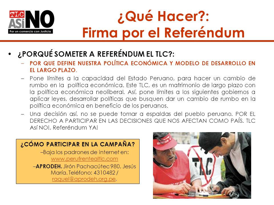 ¿Qué Hacer : Firma por el Referéndum