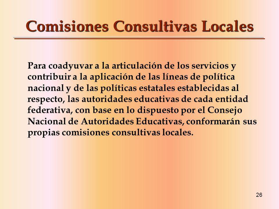 Comisiones Consultivas Locales