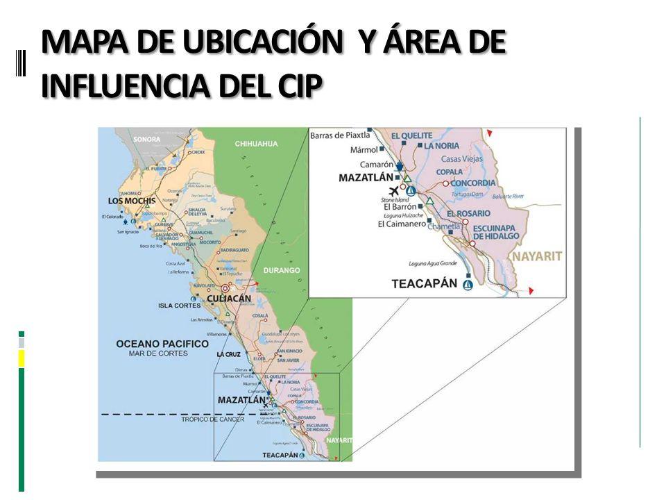 MAPA DE UBICACIÓN Y ÁREA DE INFLUENCIA DEL CIP