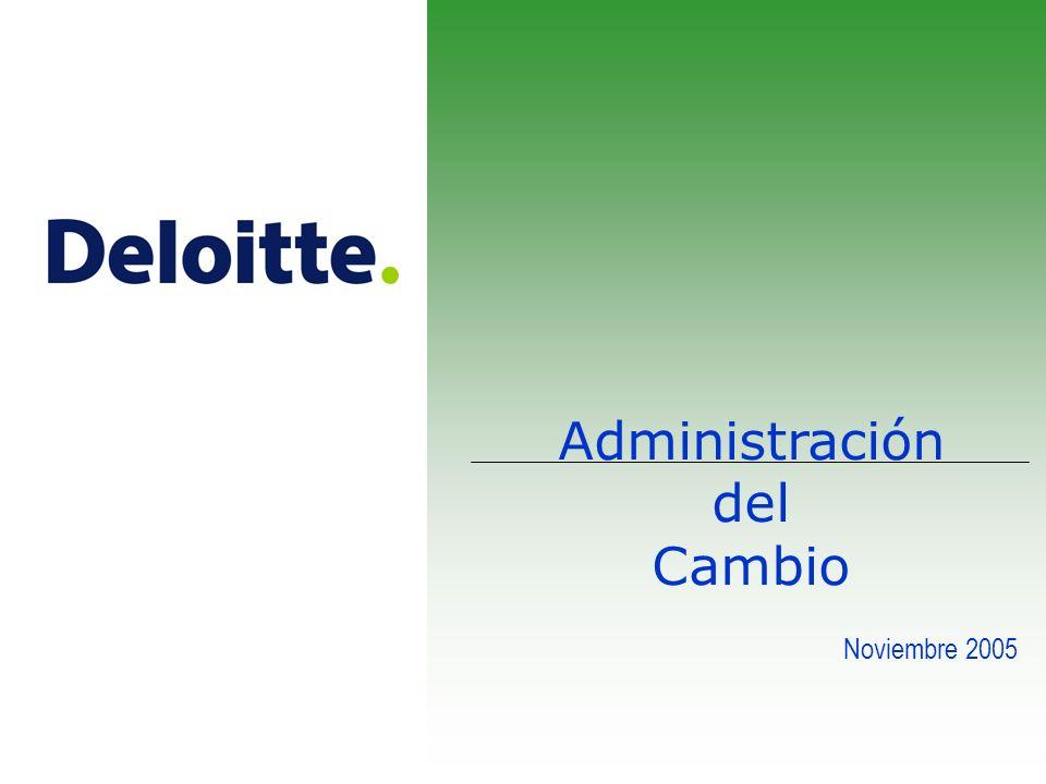 Administración del Cambio Noviembre 2005