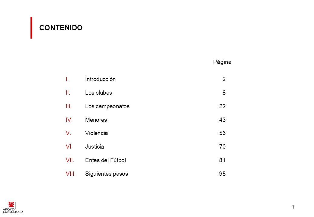 CONTENIDO Página Introducción 2 Los clubes 8 Los campeonatos 22