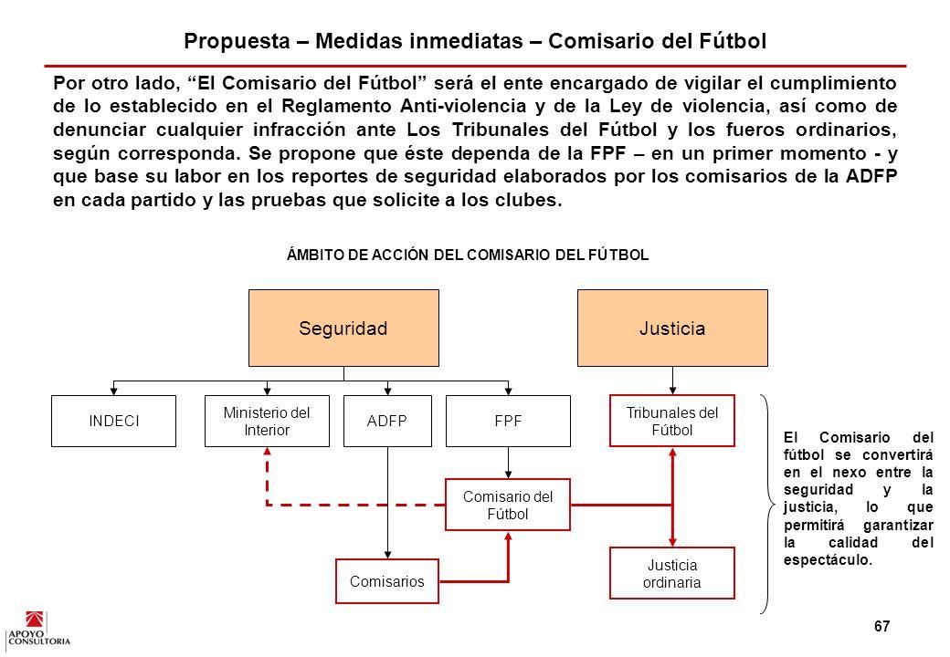 Propuesta – Medidas inmediatas – Comisario del Fútbol