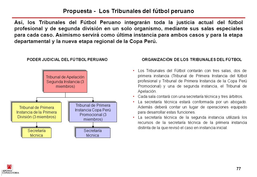 Propuesta - Los Tribunales del fútbol peruano