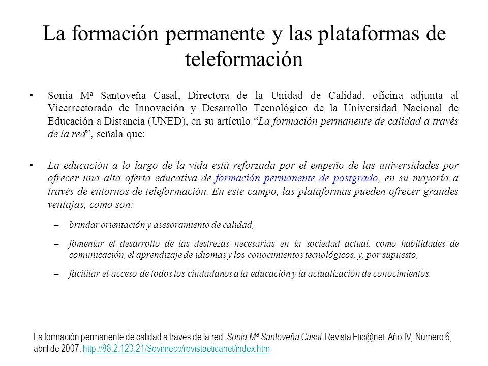 La formación permanente y las plataformas de teleformación