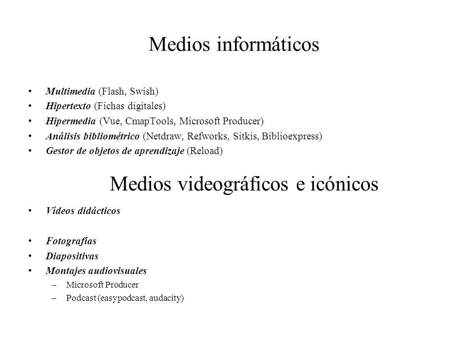 Medios videográficos e icónicos