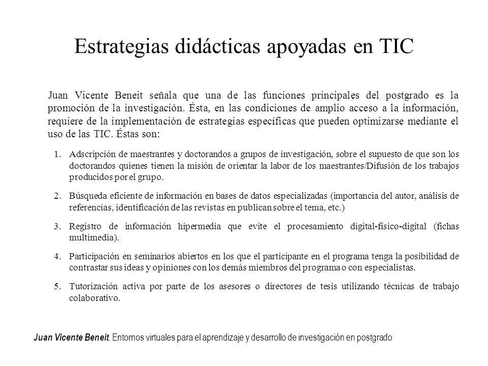 Estrategias didácticas apoyadas en TIC