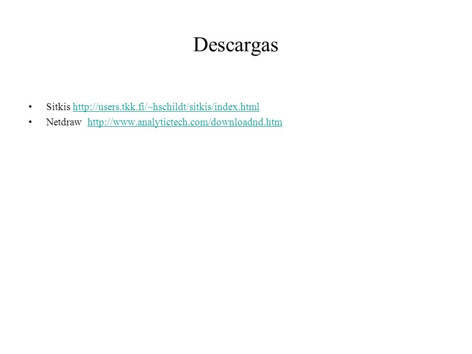 Descargas Sitkis http://users.tkk.fi/~hschildt/sitkis/index.html