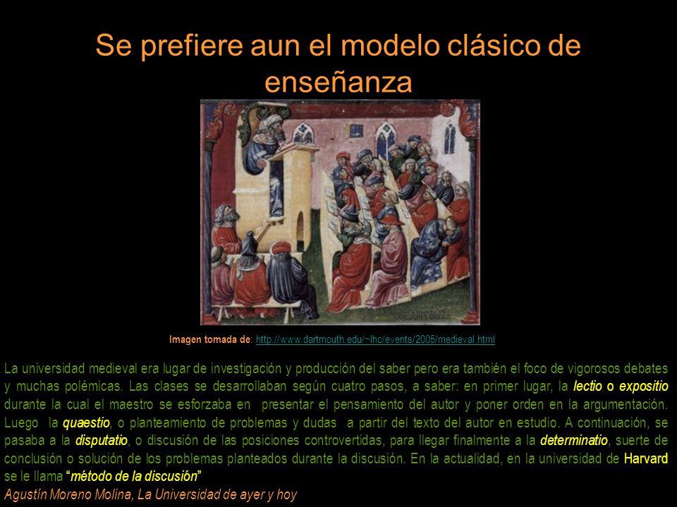Se prefiere aun el modelo clásico de enseñanza