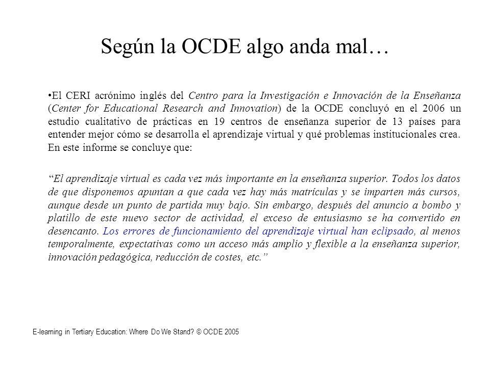 Según la OCDE algo anda mal…