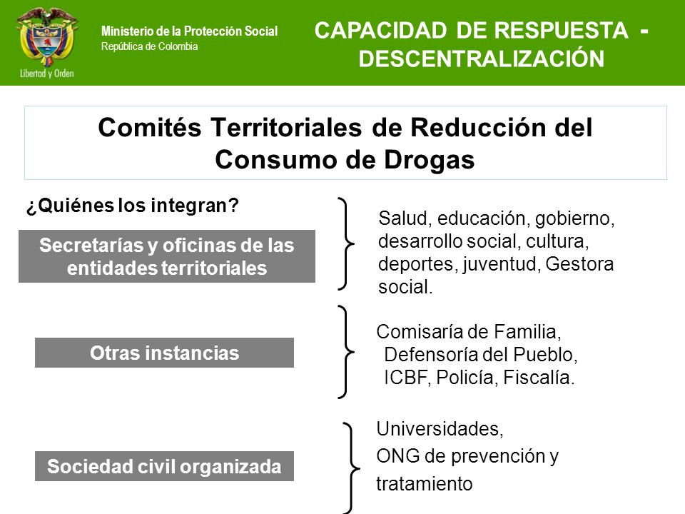 Comités Territoriales de Reducción del Consumo de Drogas