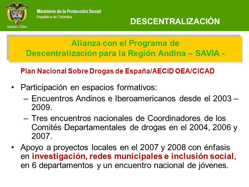 Plan Nacional Sobre Drogas de España/AECID OEA/CICAD