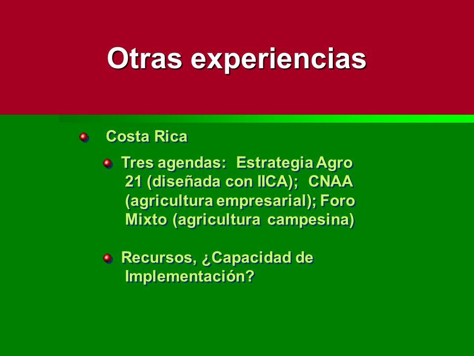 Otras experiencias Costa Rica