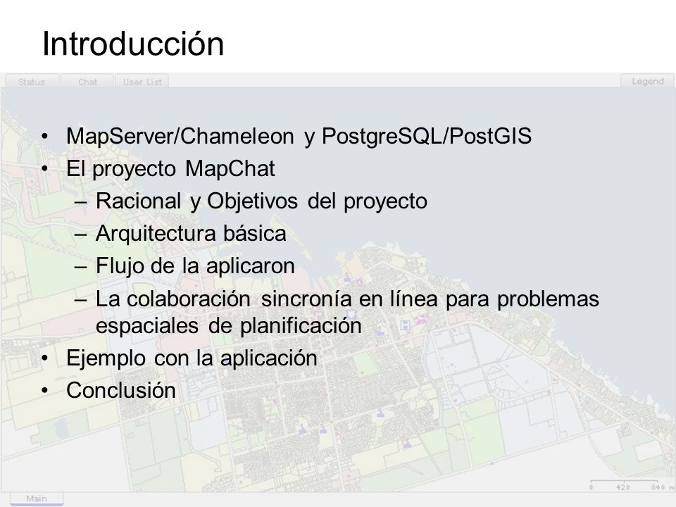 Introducción MapServer/Chameleon y PostgreSQL/PostGIS