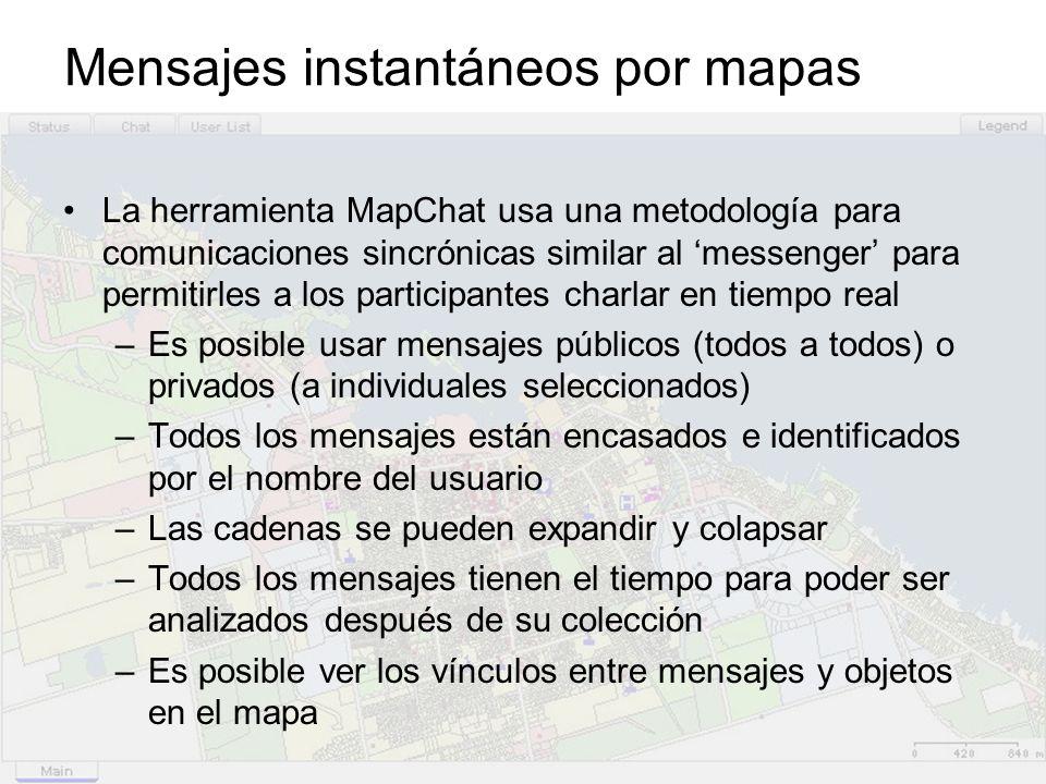 Mensajes instantáneos por mapas