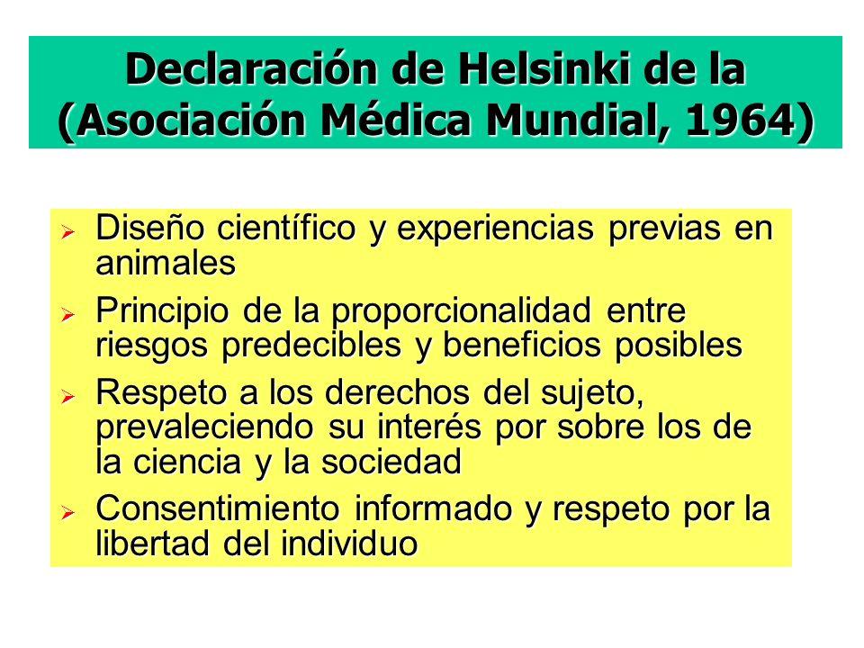 Declaración de Helsinki de la (Asociación Médica Mundial, 1964)