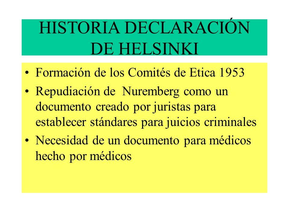 HISTORIA DECLARACIÓN DE HELSINKI