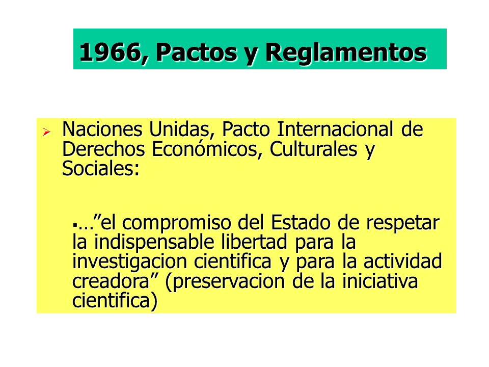 1966, Pactos y Reglamentos Naciones Unidas, Pacto Internacional de Derechos Económicos, Culturales y Sociales: