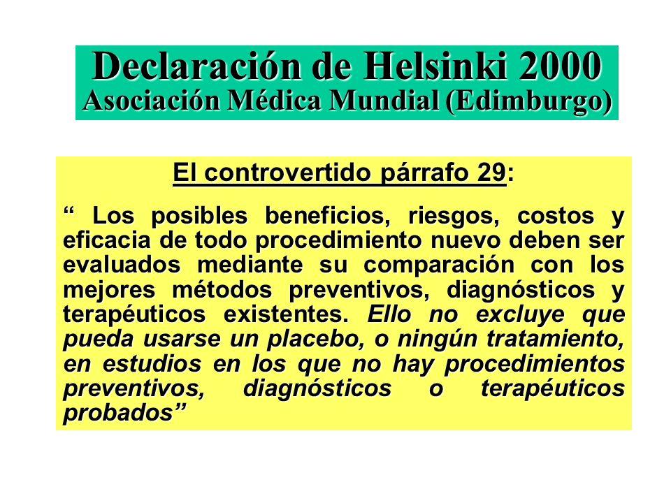 Declaración de Helsinki 2000