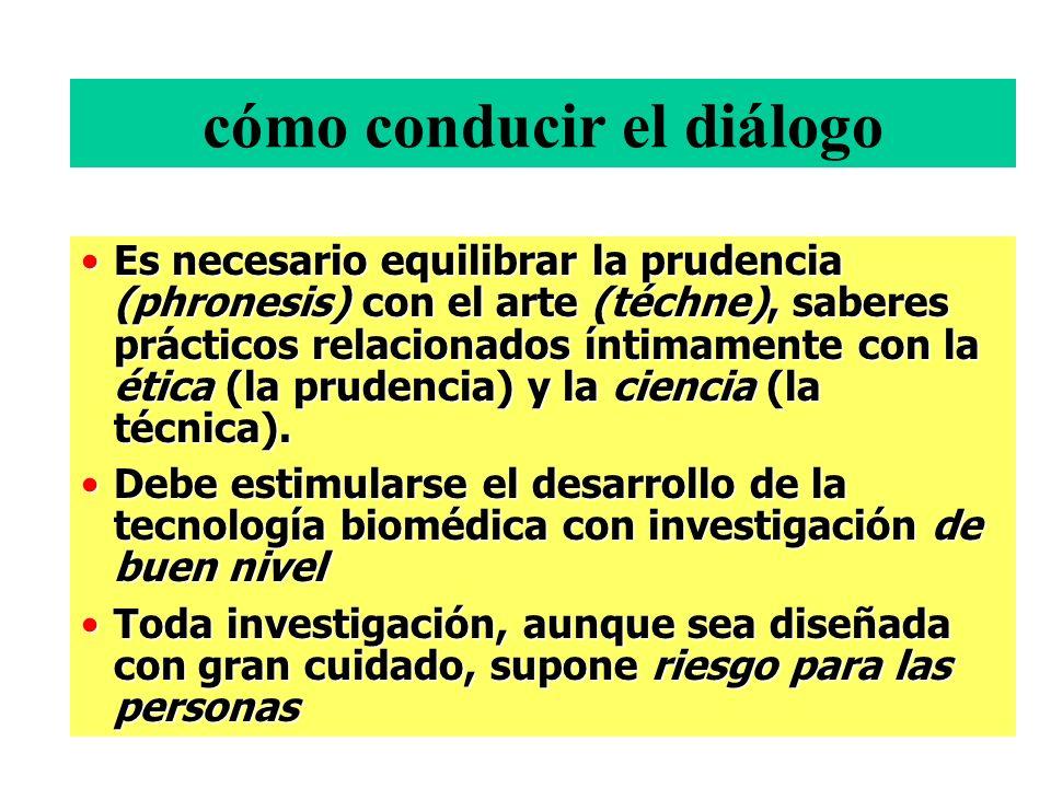 cómo conducir el diálogo