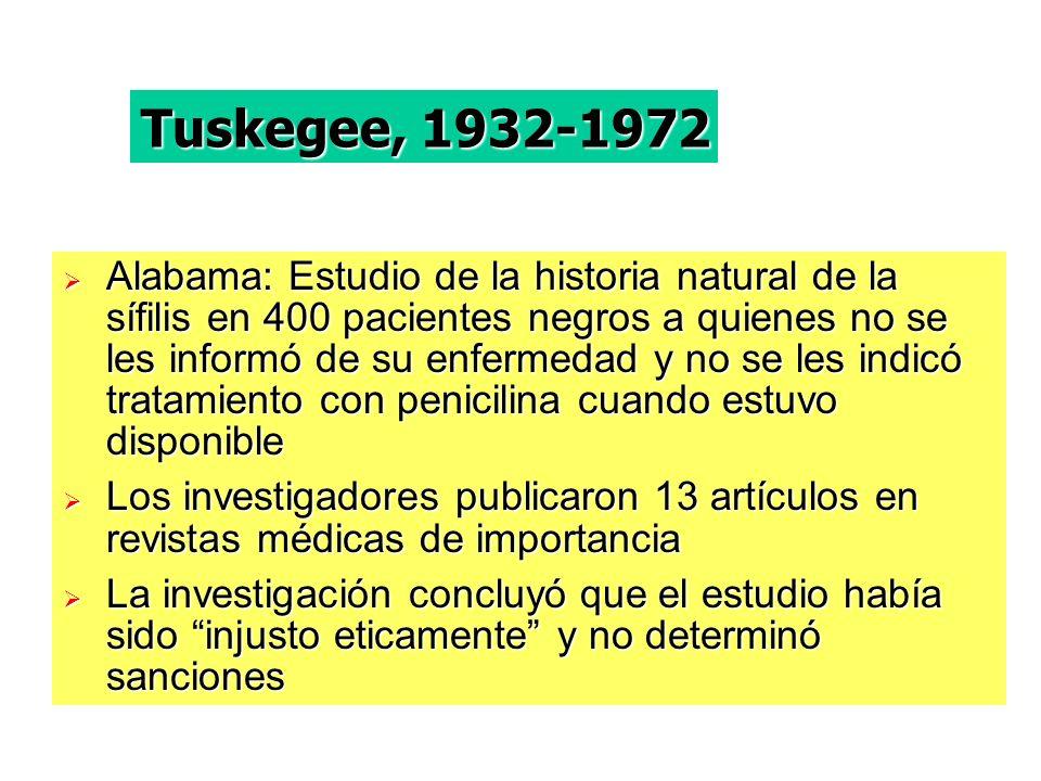 Tuskegee, 1932-1972