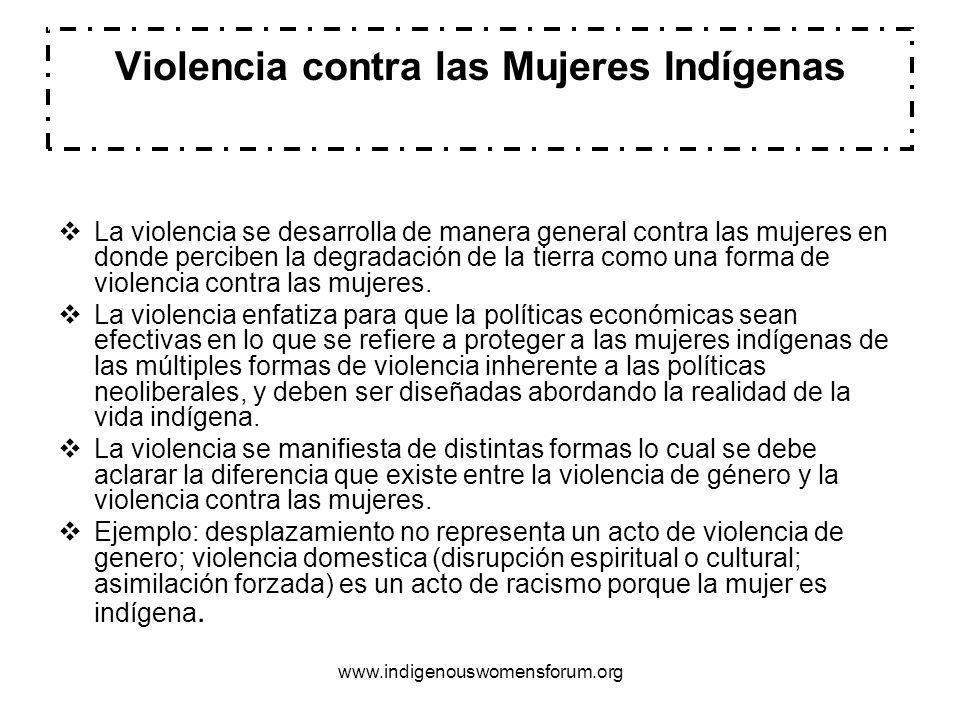 Violencia contra las Mujeres Indígenas