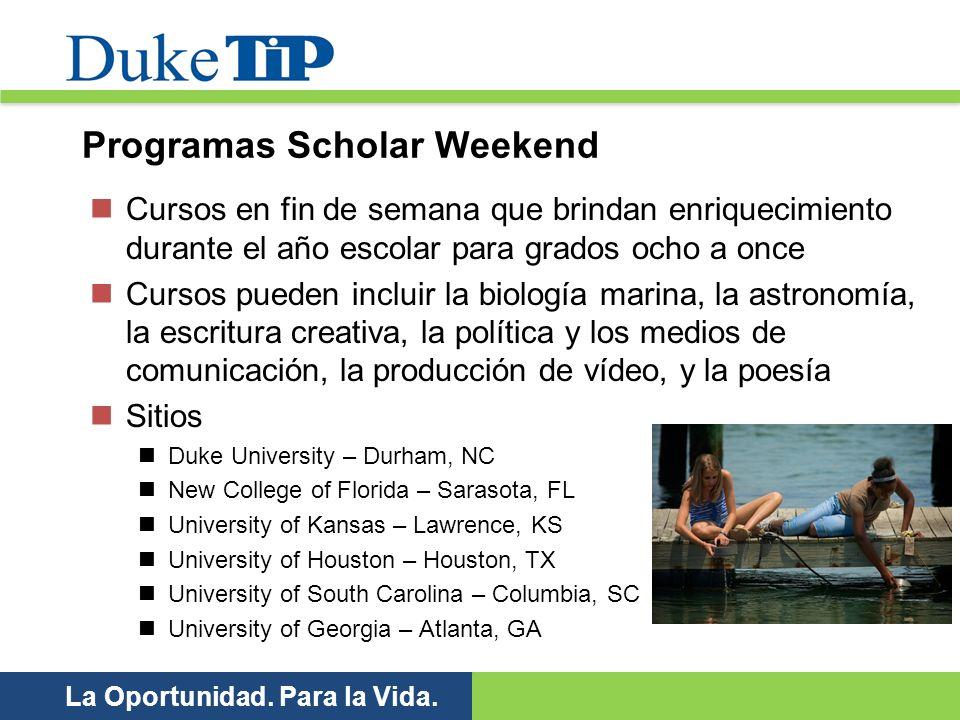 Programas Scholar Weekend