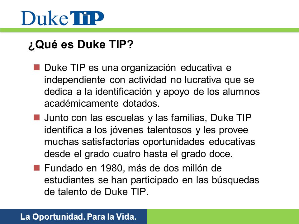 ¿Qué es Duke TIP