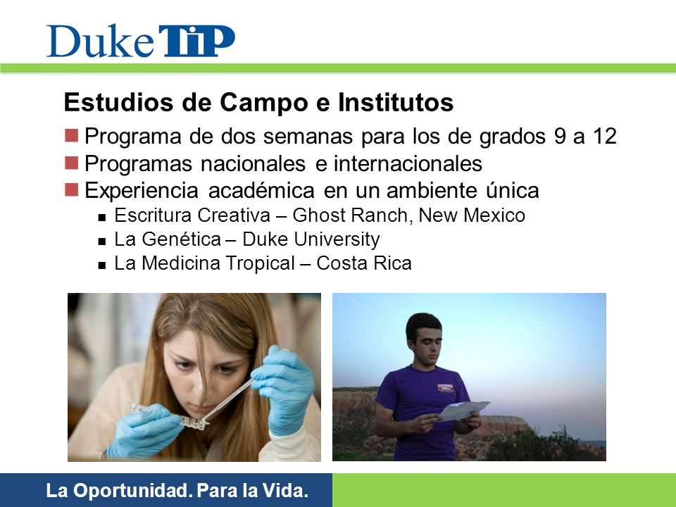 Estudios de Campo e Institutos