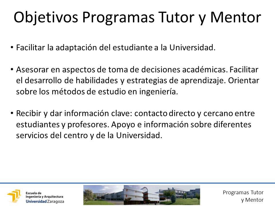 Objetivos Programas Tutor y Mentor