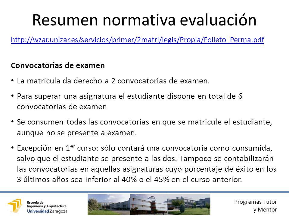Resumen normativa evaluación