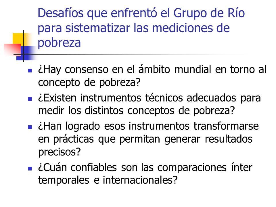 Desafíos que enfrentó el Grupo de Río para sistematizar las mediciones de pobreza