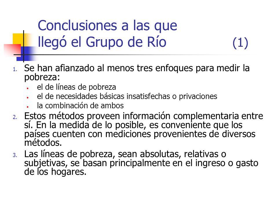 Conclusiones a las que llegó el Grupo de Río (1)