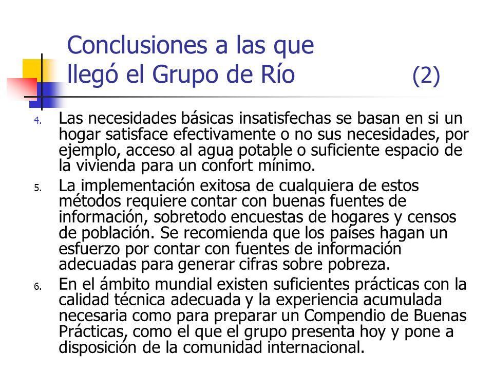 Conclusiones a las que llegó el Grupo de Río (2)