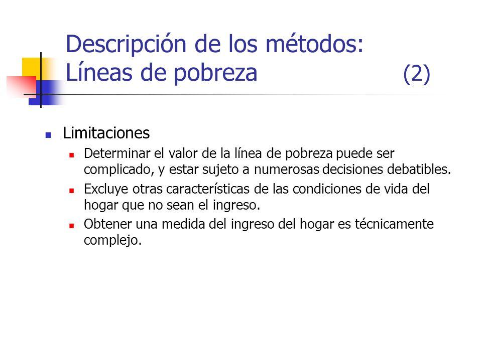 Descripción de los métodos: Líneas de pobreza (2)