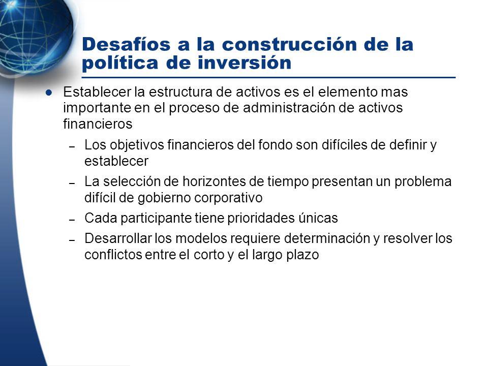 Desafíos a la construcción de la política de inversión